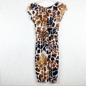 NWOT Cache Giraffe print form fitting dress